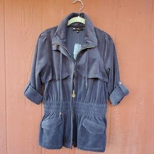 Adrienne Vittadini Charcoal Velvet Jacket NWT $88